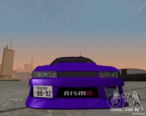 Nissan Silvia S13 Nismo tuned para GTA San Andreas traseira esquerda vista