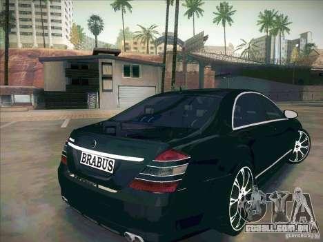 Mercedes-Benz S 500 Brabus Tuning para GTA San Andreas traseira esquerda vista