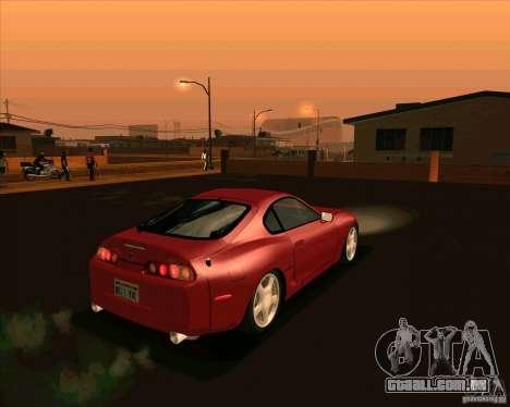 Toyota Supra NFS Most Wanted para GTA San Andreas traseira esquerda vista