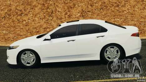 Honda Accord Type S 2008 para GTA 4 esquerda vista
