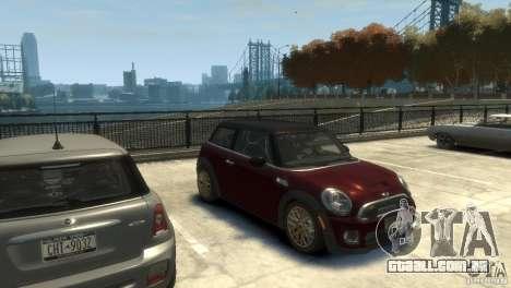 Mini John Cooper Works 2009 para GTA 4 traseira esquerda vista