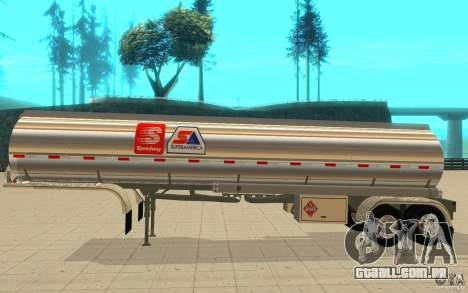Semi Petrotr para GTA San Andreas traseira esquerda vista