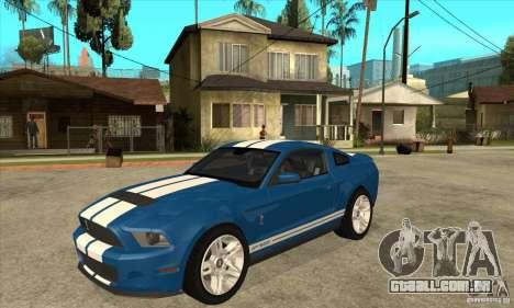 Ford Mustang Shelby GT500 2011 para GTA San Andreas