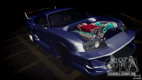 Toyota Supra Tuned para GTA San Andreas vista traseira