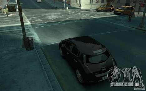 Nissan Leaf 2011 para GTA 4 traseira esquerda vista