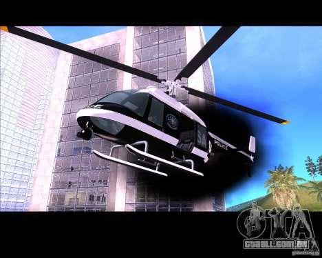 GTA IV Police Helicopter para GTA San Andreas esquerda vista