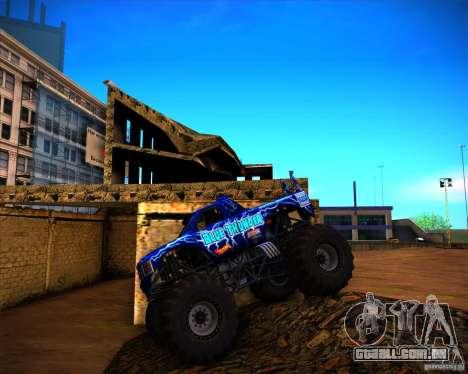 Monster Truck Blue Thunder para GTA San Andreas vista interior