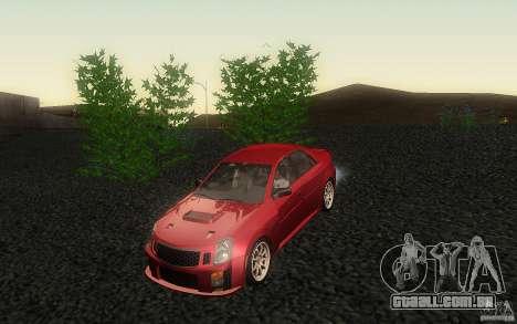 Cadillac CTS-V para vista lateral GTA San Andreas