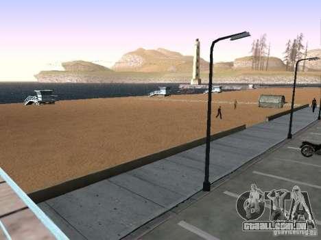 Nova praia textura v 1.0 para GTA San Andreas por diante tela