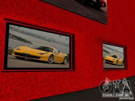 Novo Showroom da Ferrari em San Fierro para GTA San Andreas por diante tela