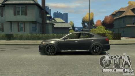 Lexus IS F para GTA 4 vista lateral