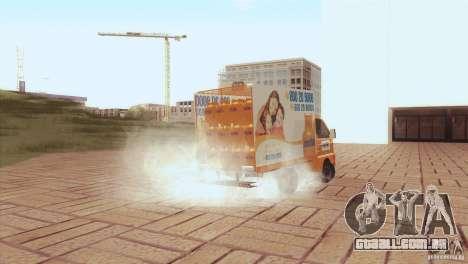 Hafei Camion de Gas para GTA San Andreas vista traseira