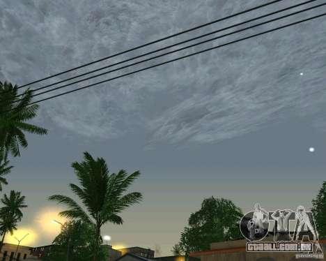 Nuvens de novas para GTA San Andreas terceira tela