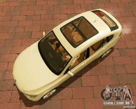 BMW 550i GranTurismo 2009 V1.0 para GTA San Andreas vista interior