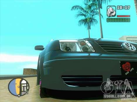 VW Bora Tuned para GTA San Andreas esquerda vista