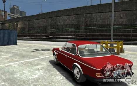 BMW 3.0 CSL E9 1971 para GTA 4 traseira esquerda vista