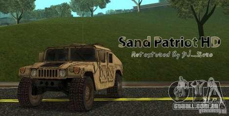 Sand Patriot HD para GTA San Andreas