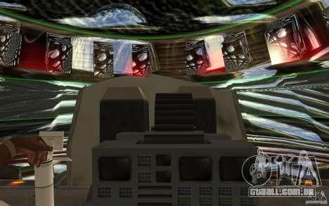 Real UFO para GTA San Andreas vista interior