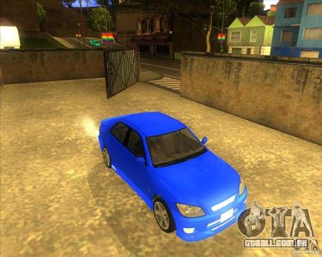 Toyota Altezza RS200 1998 para GTA San Andreas vista direita