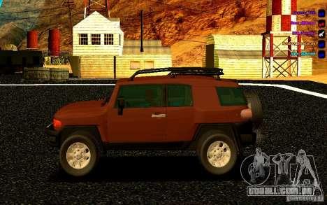 Toyota FJ Cruiser para GTA San Andreas esquerda vista