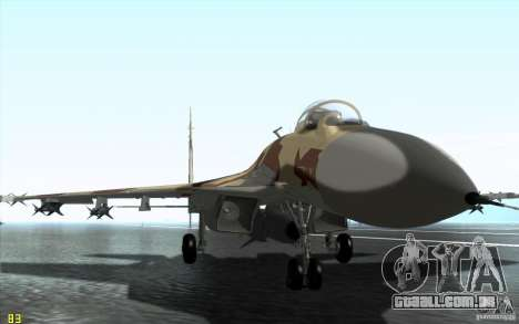 O Su-37 Terminator para GTA San Andreas esquerda vista
