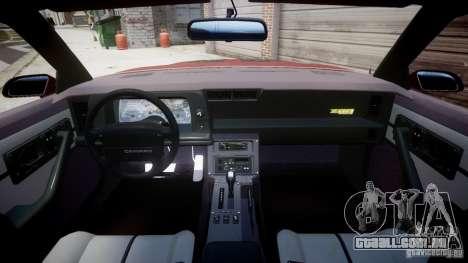Chevrolet Camaro 1990 IROC-Z v1.5 para GTA 4 traseira esquerda vista