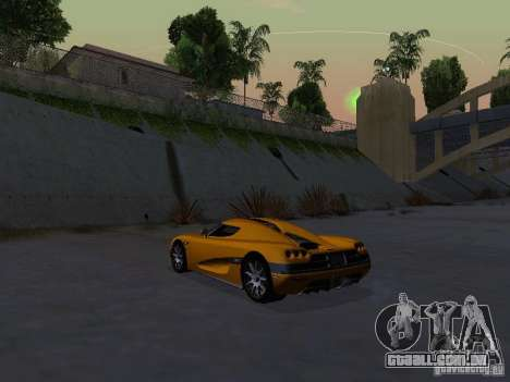 Koenigsegg CCX para GTA San Andreas vista direita