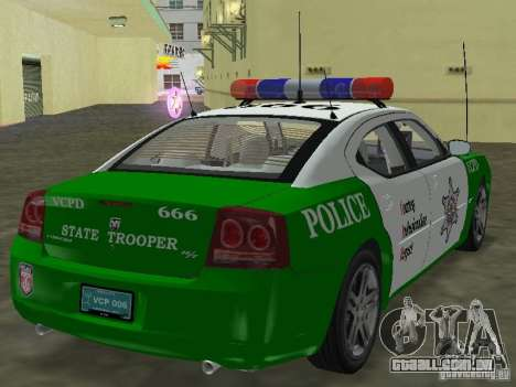 Dodge Charger Police para GTA Vice City deixou vista
