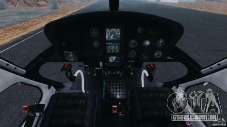 Eurocopter AS350 Ecureuil (Squirrel) para GTA 4 vista de volta