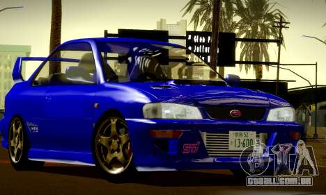 Subaru Impreza WRX GC8 InitialD para GTA San Andreas vista interior