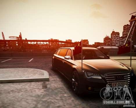 Audi A8 Limo para GTA 4 traseira esquerda vista