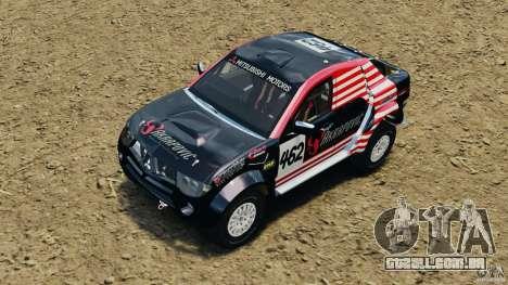 Mitsubishi L200 Triton para GTA 4 vista superior