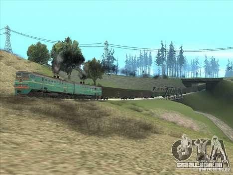 2te10v-3390 para GTA San Andreas vista traseira