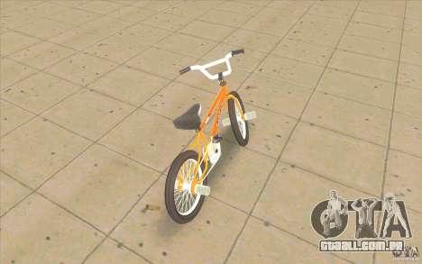 K2B Ghetto BMX para GTA San Andreas traseira esquerda vista