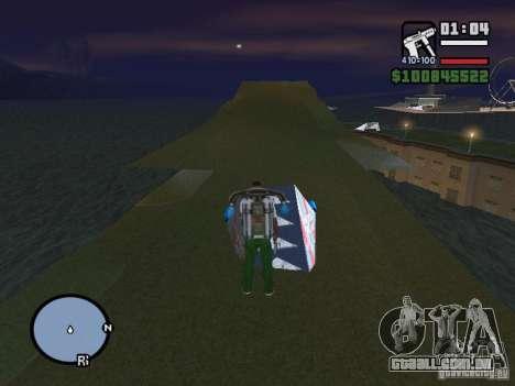 Night moto track V.2 para GTA San Andreas por diante tela