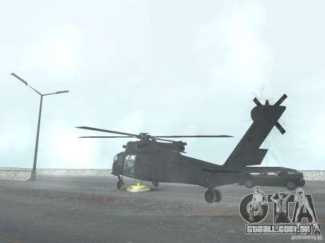O helicóptero de CoD 4 MW para GTA San Andreas esquerda vista