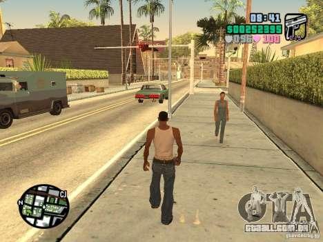 Vice City Hud para GTA San Andreas por diante tela