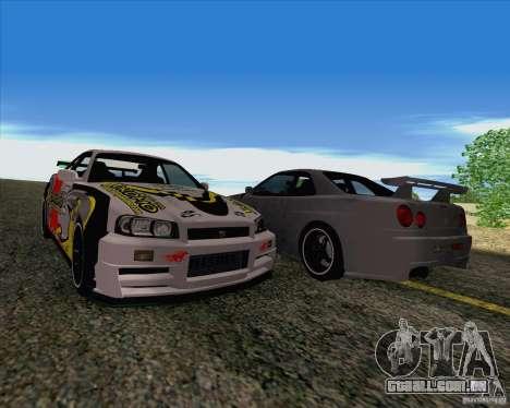 Nissan Skyline R34 Z-Tune V3 para GTA San Andreas vista interior