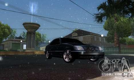 Mercedes-Benz 600SEC para GTA San Andreas vista interior