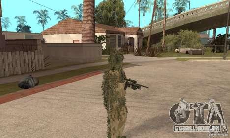 Atirador de pele para GTA San Andreas por diante tela
