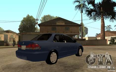 Honda Accord 2001 beta1 para GTA San Andreas vista direita