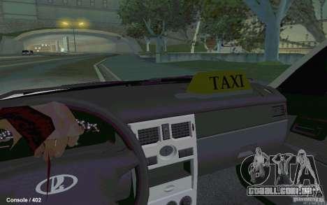 Lada Priora para GTA San Andreas traseira esquerda vista