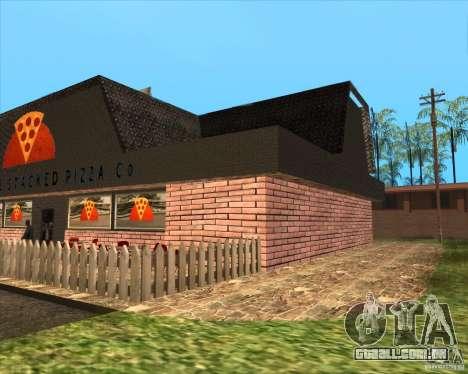 Nova pizzaria em IdelWood para GTA San Andreas segunda tela