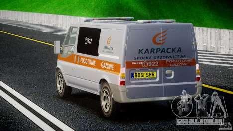 Ford Transit Usluga polski gazu [ELS] para GTA 4 traseira esquerda vista