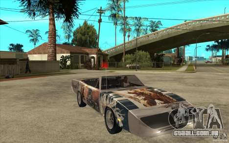 Plymouth Roadrunner Superbird Custom para GTA San Andreas vista traseira