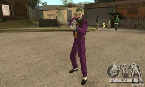 HQ Joker Skin para GTA San Andreas segunda tela