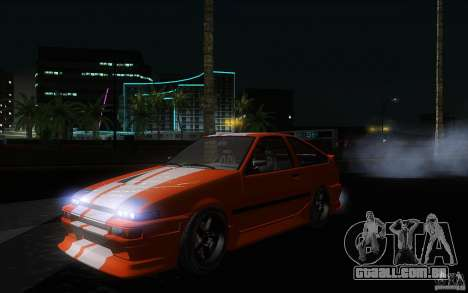 Toyota Sprinter Trueno AE86 Drift spec para GTA San Andreas vista interior