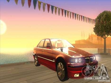 BMW E36 para GTA San Andreas vista interior