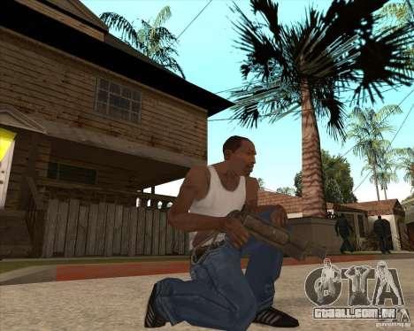 CoD:MW2 weapon pack para GTA San Andreas quinto tela