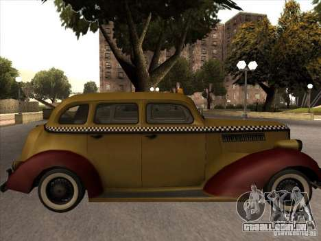 Shubert táxi de MAFIA 2 para GTA San Andreas traseira esquerda vista